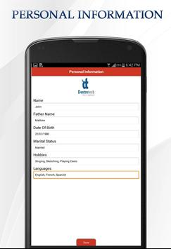 cv maker apk screenshot - Cv Maker App