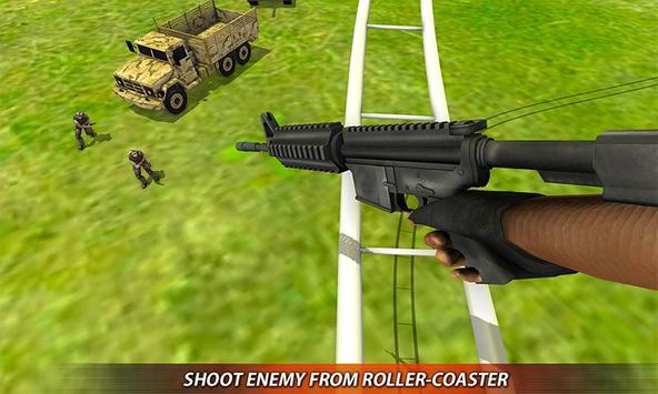 US Army Rollercoaster Shooting screenshot 1