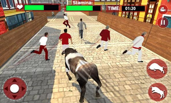 Angry Bull Escape Simulator 3D poster