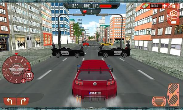 Grand Car Chase Auto Theft 3D poster