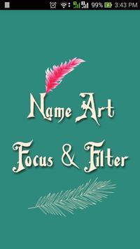 Name Art Focus N Filter poster