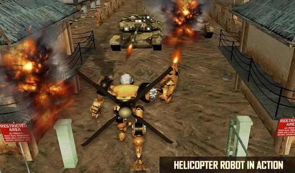 Futuristic Helicopter Real Robot Transformation 3D screenshot 11