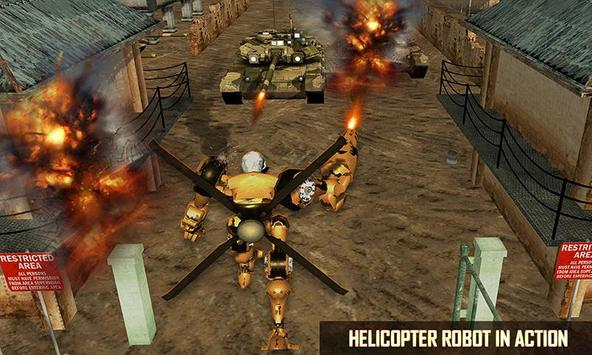 Futuristic Helicopter Real Robot Transformation 3D screenshot 1