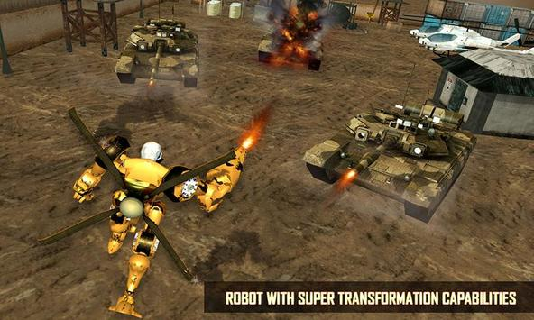 Futuristic Helicopter Real Robot Transformation 3D screenshot 4