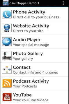 dswiftapps Demo1 apk screenshot