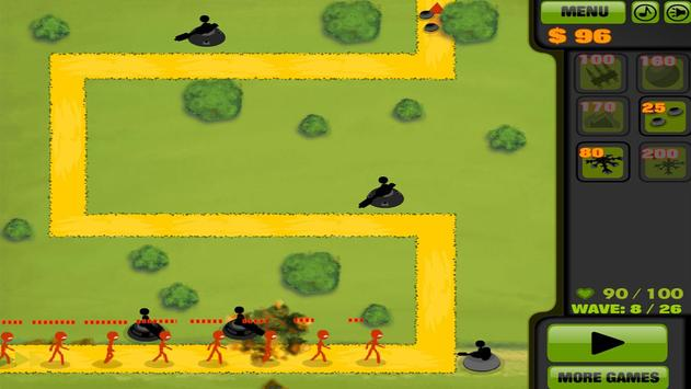 Stickman Tower Defense screenshot 2