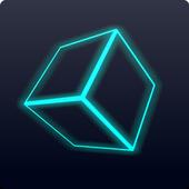 Neon Cube Rider 3D icon
