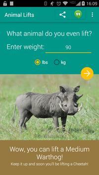 What Animal Can You Lift? apk screenshot