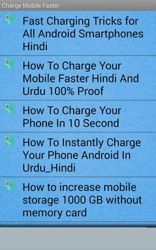 Charge Mobile Faster Urdu Tutorial apk screenshot