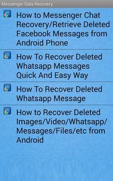 Messenger Data Recovery screenshot 1