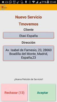 Tmovemos (Taxista) apk screenshot