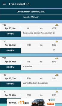 Live Cricket IPL poster