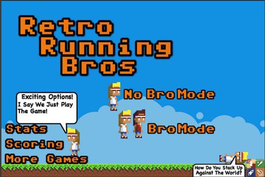 Retro Running Bros. poster