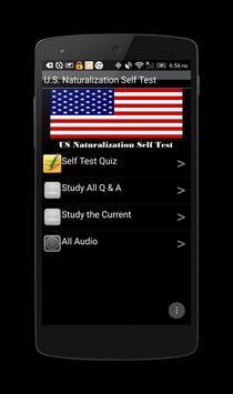 U.S. Naturalization Self Test poster