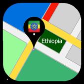 Ethiopia map icon