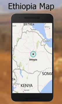 Ethiopia map poster