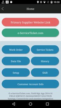 e-Service Ticket, Field-Mgt poster