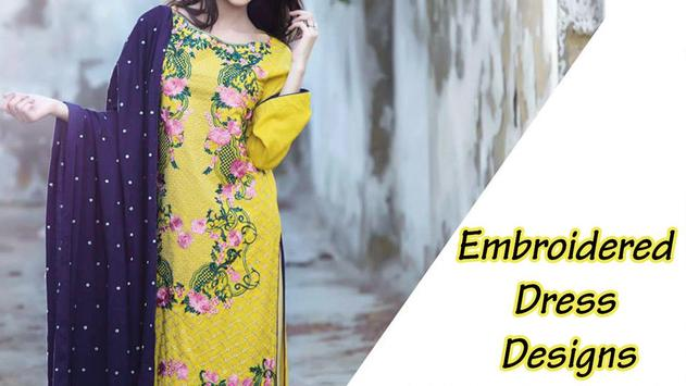 Embroidered Dress Designs poster