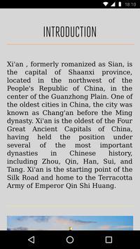 Xi'an Travel Guide apk screenshot