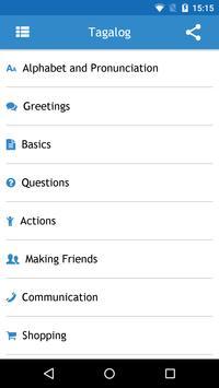 Tagalog Phrasebook apk screenshot