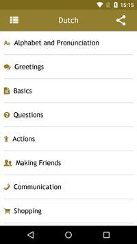 Dutch Phrasebook screenshot 1