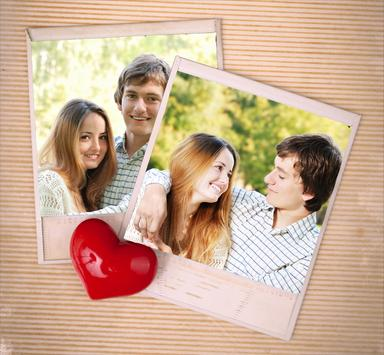 Heart Photo Collages poster