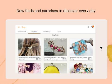 Etsy captura de pantalla de la apk