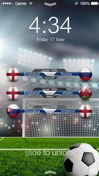 Euro 2016 England ScreenLock poster