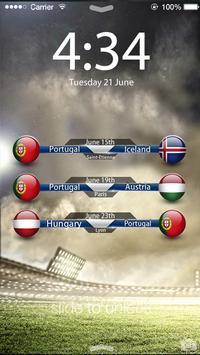 Soccer EURO 2016 Screen Lock poster