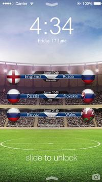 Football EURO Cup Lock Screen capture d'écran 9