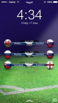 Euro 2016 Slovakia Screen Lock poster