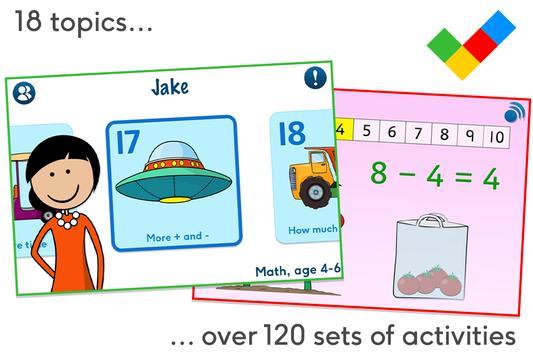 Math, age 4-6 poster