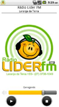 Rádio Lider FM Laranja da Terra poster