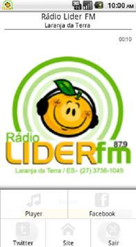 Rádio Lider FM Laranja da Terra screenshot 1