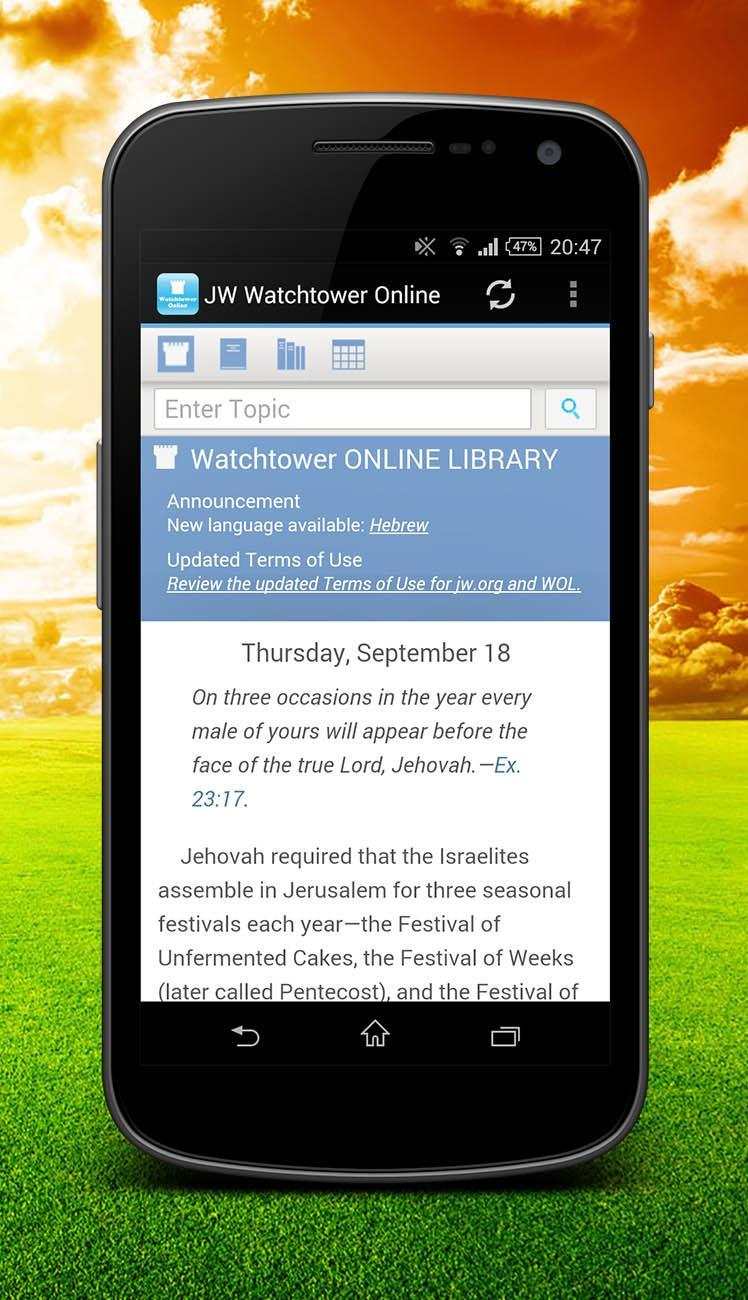 JW Watchtower Online for Android - APK Download