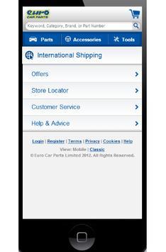 EuroCarParts screenshot 2