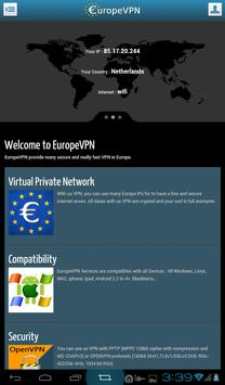 EuropeVPN apk screenshot