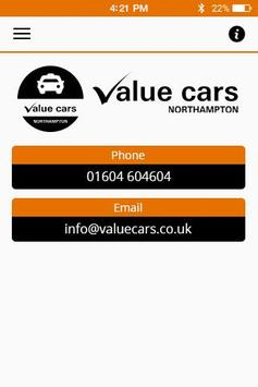 ValueCars Northampton apk screenshot