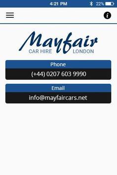 MayFair Cars apk screenshot