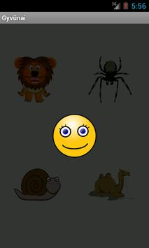 Mokomes zodziu: gyvunai apk screenshot