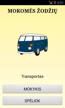 Mokomes zodziu: transportas poster