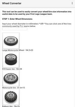 FLL Wheel Converter apk screenshot