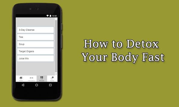How to Detox Your Body Fast poster