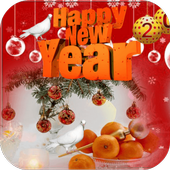 Happy New Year Photo Frame icon