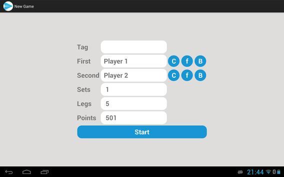 Easy Darts Free apk screenshot