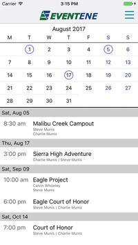 Eventene screenshot 1