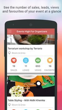Events High For Organizers apk screenshot