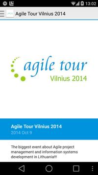 Agile Tour Vilnius poster