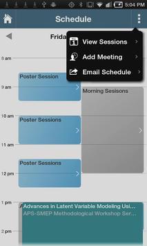 25th APS Annual Convention screenshot 2