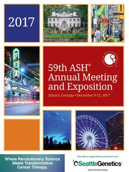 2017 ASH Annual Meeting & Expo poster